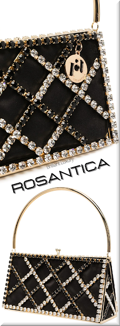 Rosantica black crystal-embellished metallic handle clutch bag #bags #eveningbags #rosantica #brilliantluxury