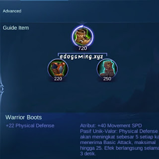 penjelasan lengkap item mobile legends item warrior boots