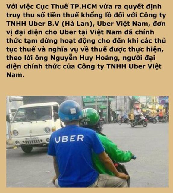 Uber Việt Nam đóng cửa chỉ là tin đồn