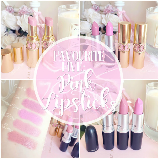 Love, Catherine | Favourite Five Pink Lipsticks, MAC & YSL