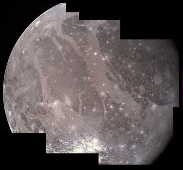 Lighter and Darker regions on Ganymede