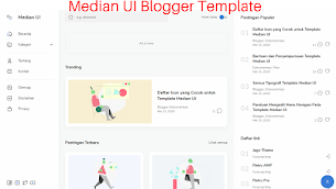 Median UI AMP Blogger Template - Stylish And Unique Design - Responsive Blogger Template