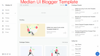 Median UI AMP Blogger Template - Stylish And Unique Design