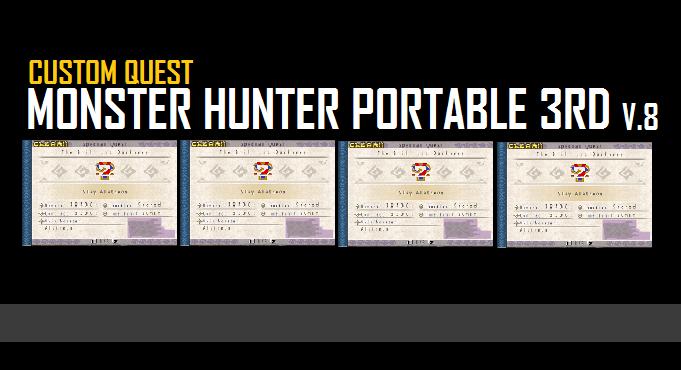 Download Cq / Custom Quest Mhp3rd V9 For Emulator Ppsspp