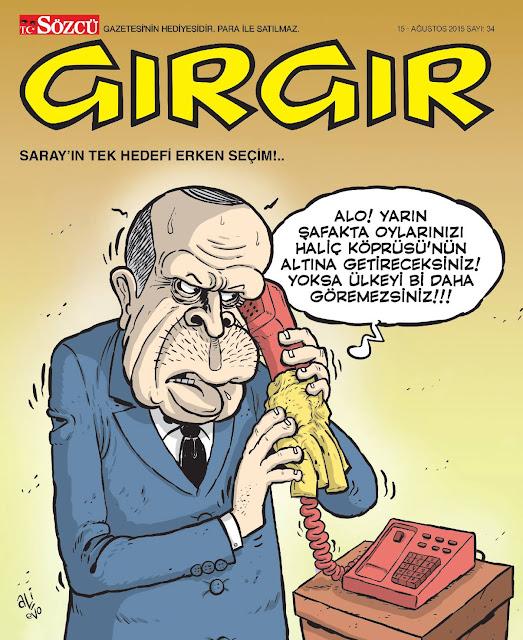 Gırgır Dergisi - 15 Ağustos 2015 Kapak Karikatürü