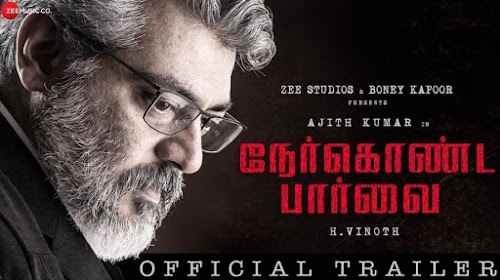 Nerkonda Paarvai Trailer Breaks Record-100k likes at just 12 Minutes