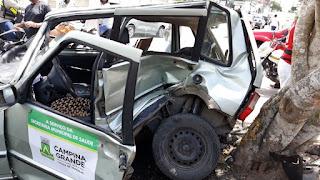 Homem fica ferido em acidente em Campina Grande