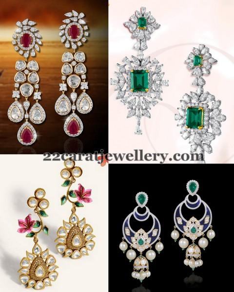 Classic Diamond Earrings by GRT - Jewellery Designs