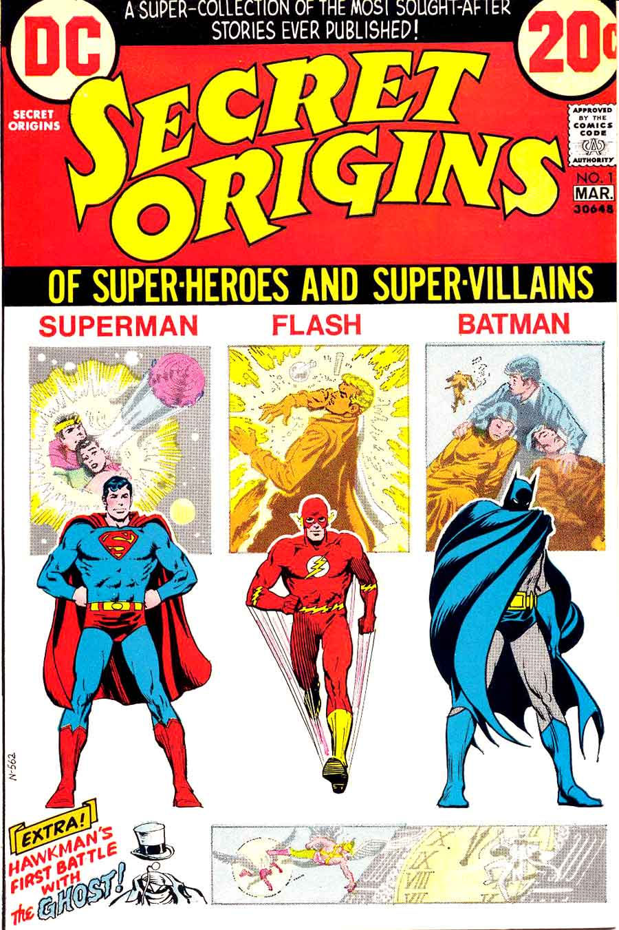 Secret Origins v2 #1, 1973 dc bronze age comic book cover
