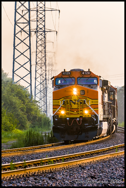 BNSF 4129 on the Hannibal Subdivision in St. Louis