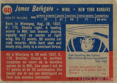 1957-58 Topps #60 - Andy Bathgate