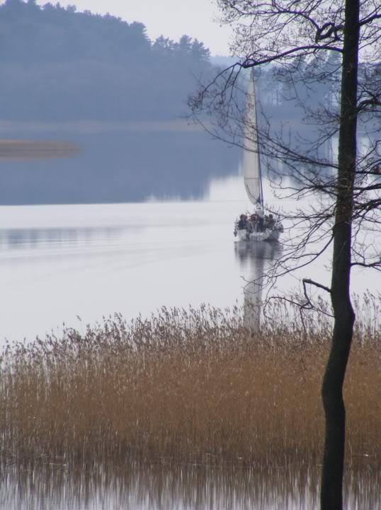Jachta Trakų ežere