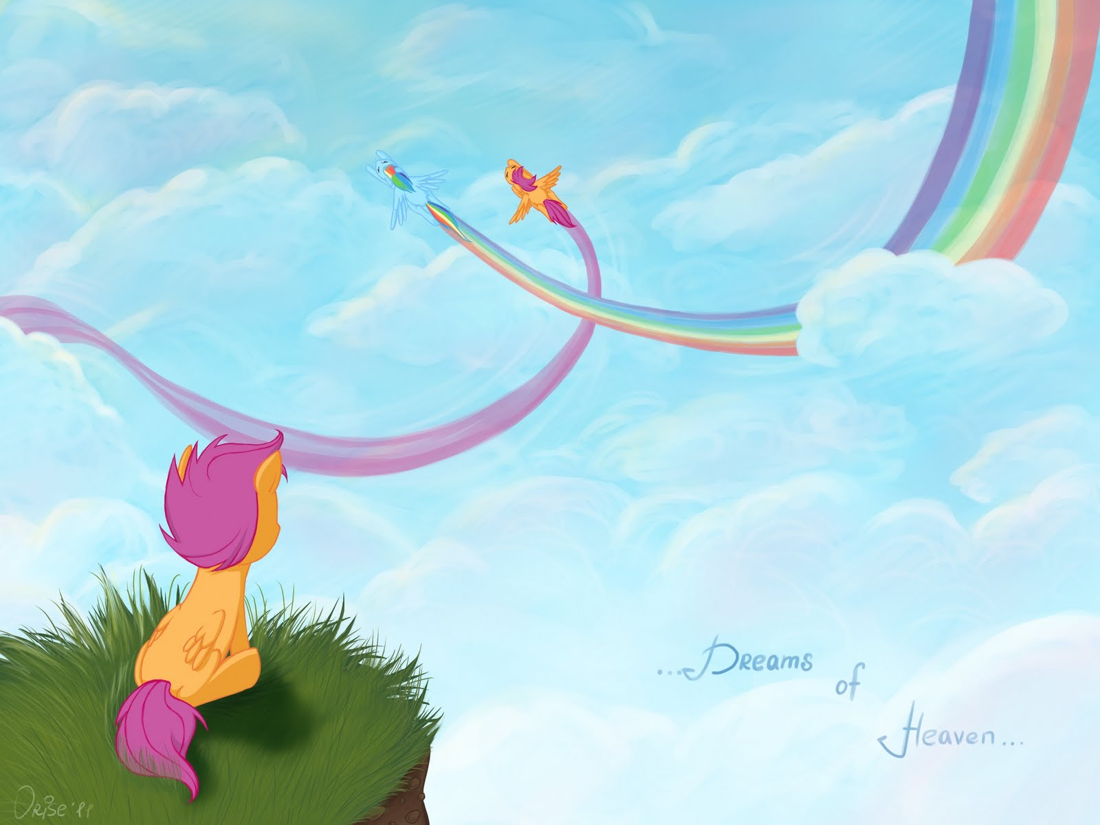 Dear Rainbow Dash Fimfiction Scootaloo is a little bit like rainbow dash, she is very competitive and athletic. fimfiction