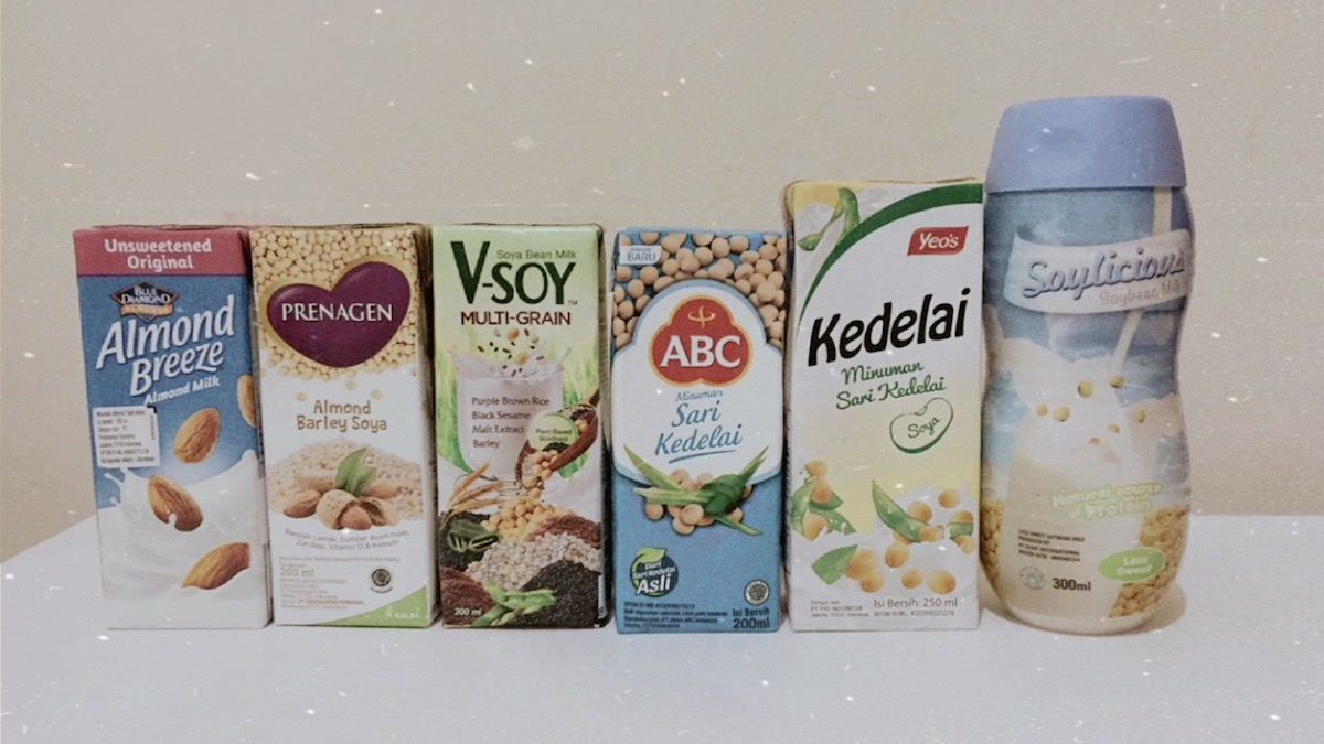 foto kemasan susu nabati