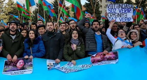 Mitin de la oposición en Bakú