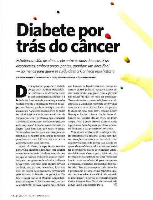 diabetes, câncer, incidência, estudo, pré-disposição