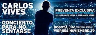 Concierto de CARLOS VIVES en Colombia