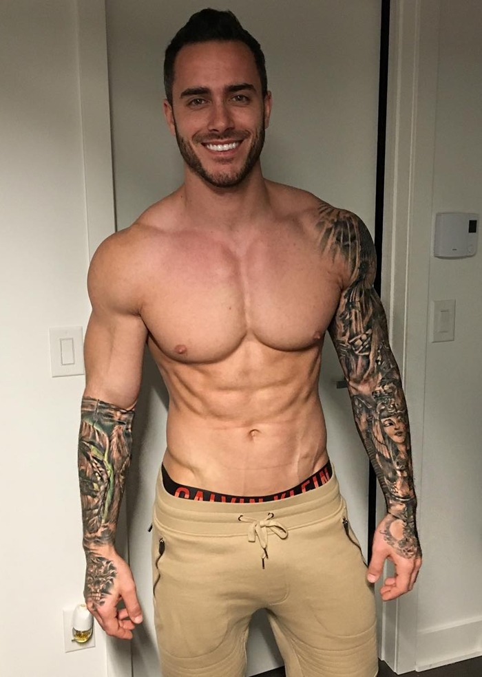 handsome-strong-daddy-shirtless-arm-tattoo-body-mike-chabot-smiling