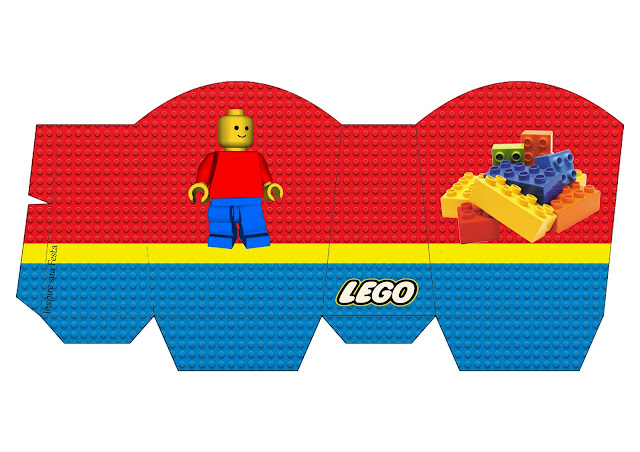 Caja para Imprimir Gratis de Fiesta de Lego.