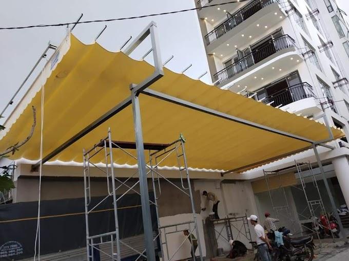 Giá bạt mái che xếp di động Tại Hải Phòng theo m2 2021 hoàn thiện trọn gói mới nhất