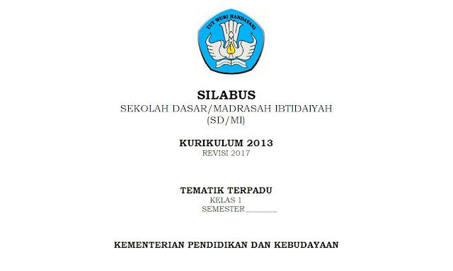 Silabus K13 Kelas 1 Tema 5 SD/MI