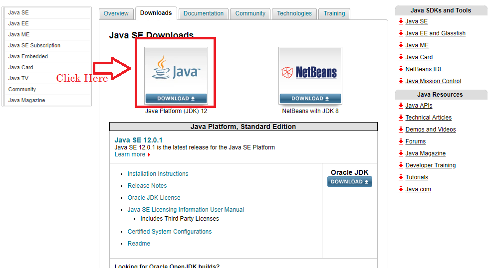 Installation and Configuration of java jdk in windows