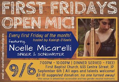 Noelle Micarelli, Poet, September 6, 7:00 to 10:00 PM, First Baptist Church, Jamaica Plain
