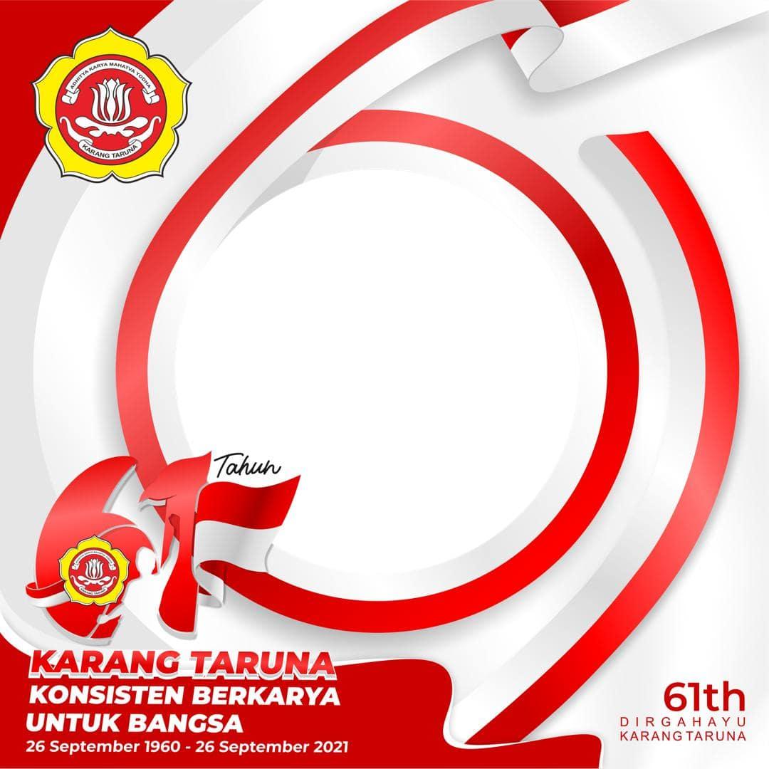 Link Frame Bingkai Foto Twibbon HUT Karang Taruna ke-61, Ucapan Hari Jadi Karang Taruna 2021