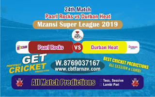 Mzansi T20 | DUR vs PR 24th Today Match Prediction Reports