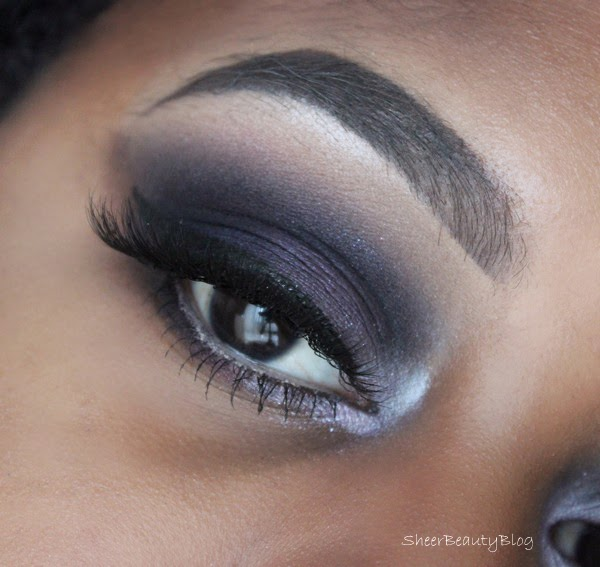 dark eye makeup smokey and purple
