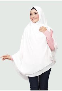 Jilbab Instan Warna Putih Syar'i
