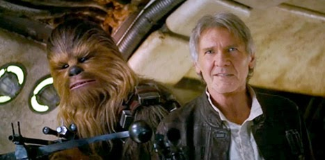Harrison Ford Han Solo Chewbacca Star Wars Force Awakens trailer