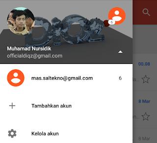 tambahkan akun gmail