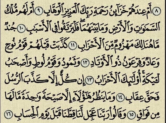 شرح وتفسير سورة ص Surah Sad