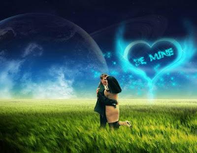 dp bbm romantis pelukan ciuman