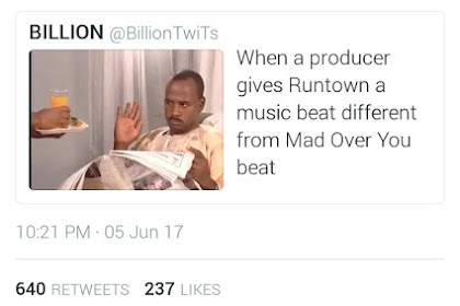 Lmao! Runtown gives Epic Reply To a Twitter user That Shaded Him(See Snapshot)
