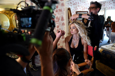 Pia Mia on set for a Material Girl campaign photo shoot. Photo: Courtesy of Material Girl
