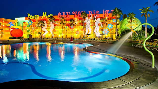 Located near ESPN Wide World of Sports Area in Orlando, Disney's Pop Century Resort is a Disney Value Resort hotel with pools, fun dining and recreation for the family.