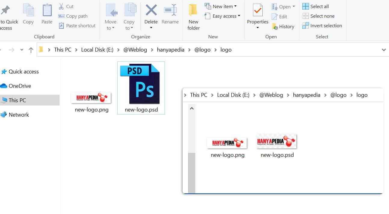 Cara Menampilkan icon Thumbnail PSD di Windows Explorer