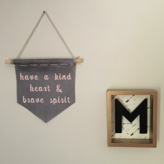 This felt wall hanging made using my Cricut, is perfect for any teen's room or college dorm. You can customize it with any inspirational quote and can add pom poms, tassels, or decorative trim!