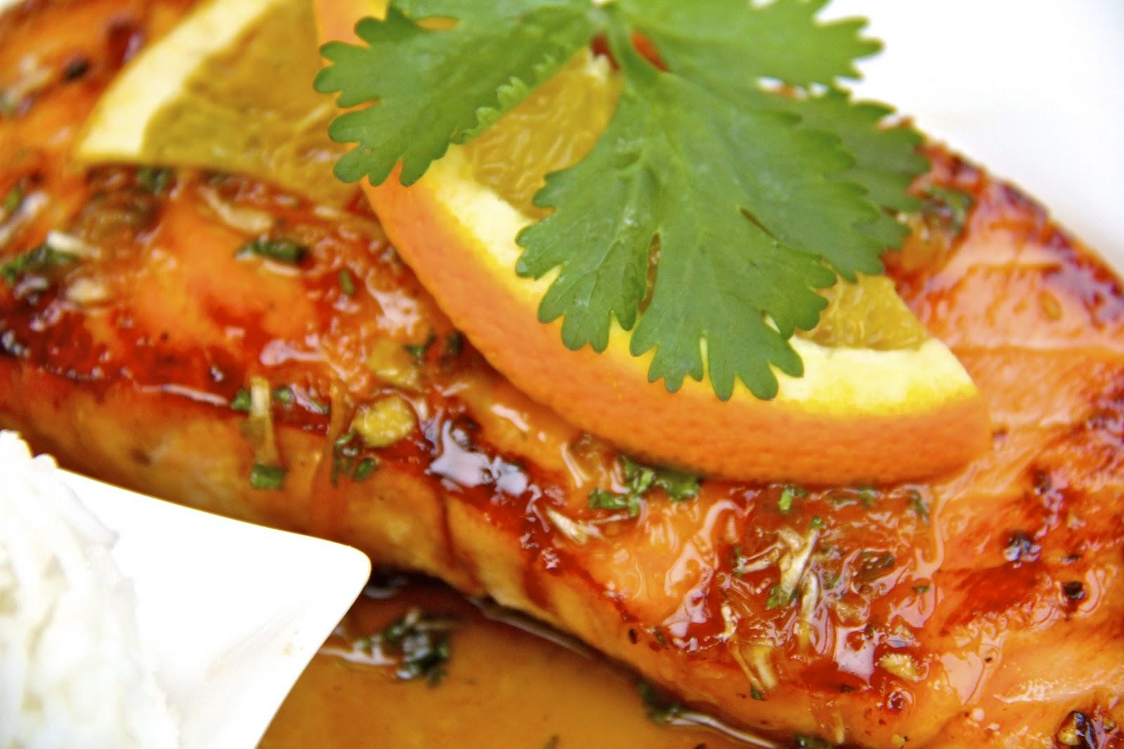 Sugar Seared Salmon W Sweet Amp Spicy Orange Coconut Sauce