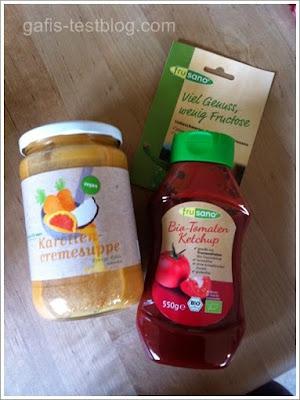 Wünsch Dir Mahl- Karotten Suppe und frusano Bio-Tomaten-Ketchup
