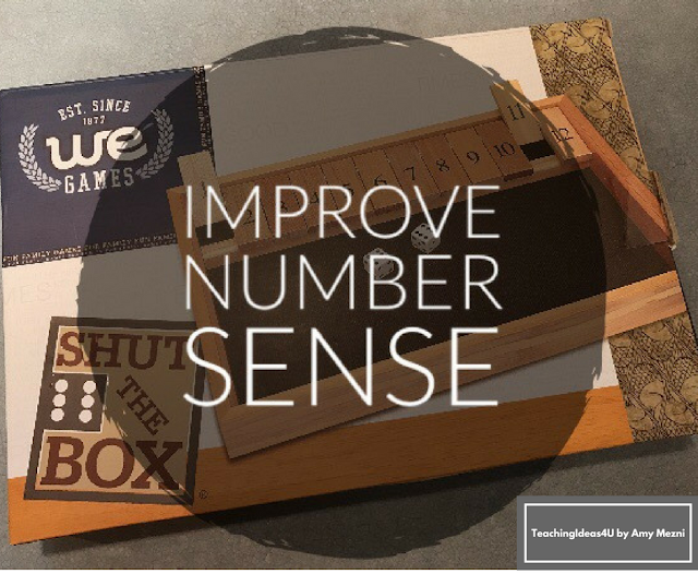 Learn how to play Shut the Box - Post includes a video that demonstrates how to play Shut the Box, an easy game that helps players improve their number sense. Players need to add on two dice.