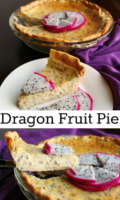 A creamy dragon fruit filling baked into a flaky crust makes for a fabulous pie. Turn that beautiful dragon fruit into a delicious dessert.