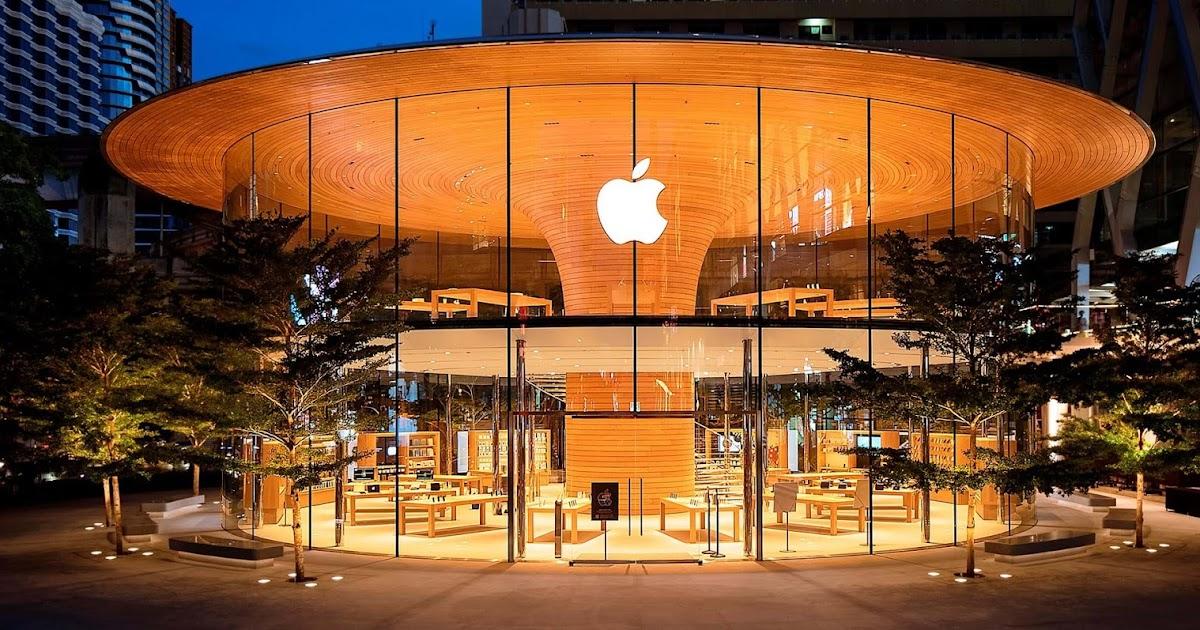 Transparência e estrutura em madeira na nova loja da Apple na Tailândia