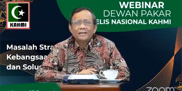 Di Hadapan Majelis KAHMI, Mahfud MD Akui Pemerintahan Jokowi Serba Salah