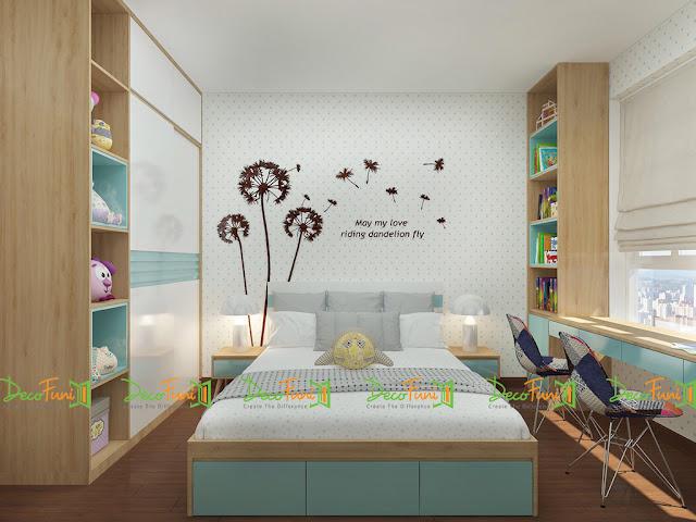 Thiết kế và thi công hoàn thiện nội thất căn hộ chung cư Moonlight Boulevard - Phòng ngủ