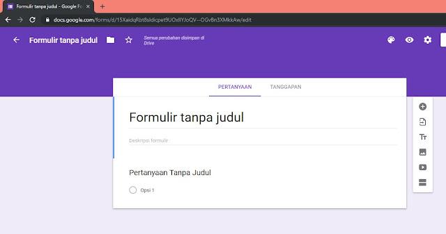 Cara Membuat Google Formulir - step 3