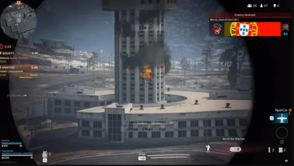 Call of Duty Warzone, season 1 Black Ops: always succeed in his airstrikes on the airport tower