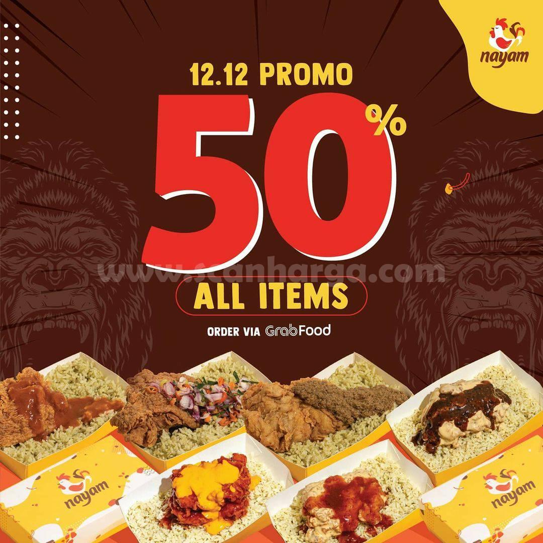 Promo NAYAM 12.12 - Diskon 50% khusus pesan via Grabfood